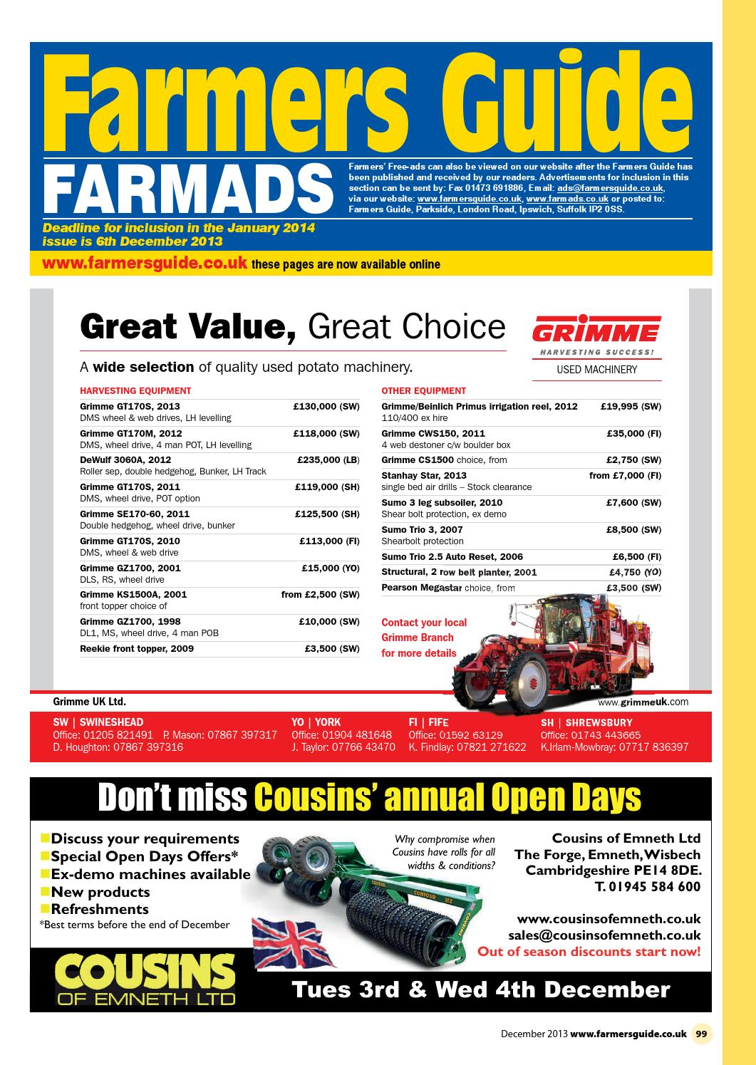 Farmers Guide classified section - December 2013 by Farmers Guide - issuu