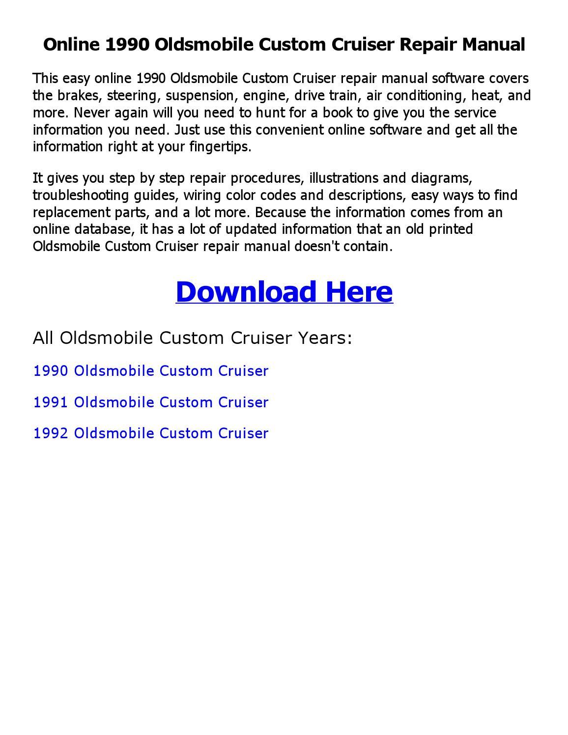 1990 oldsmobile custom cruiser repair manual online copy by sayma - issuu