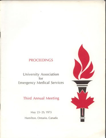 1973 SAEM (UAEMS) Annual Meeting Program by Society for Academic