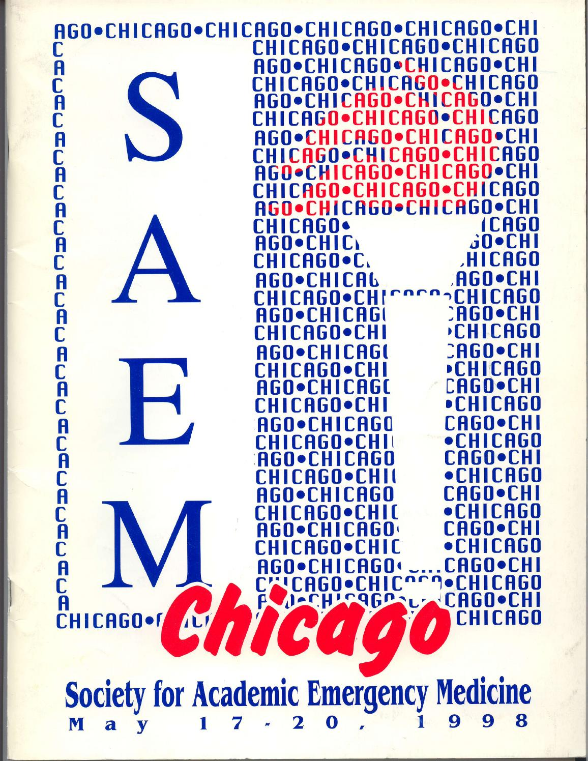 SAEM 1998 Annual Meeting Program by Society for Academic