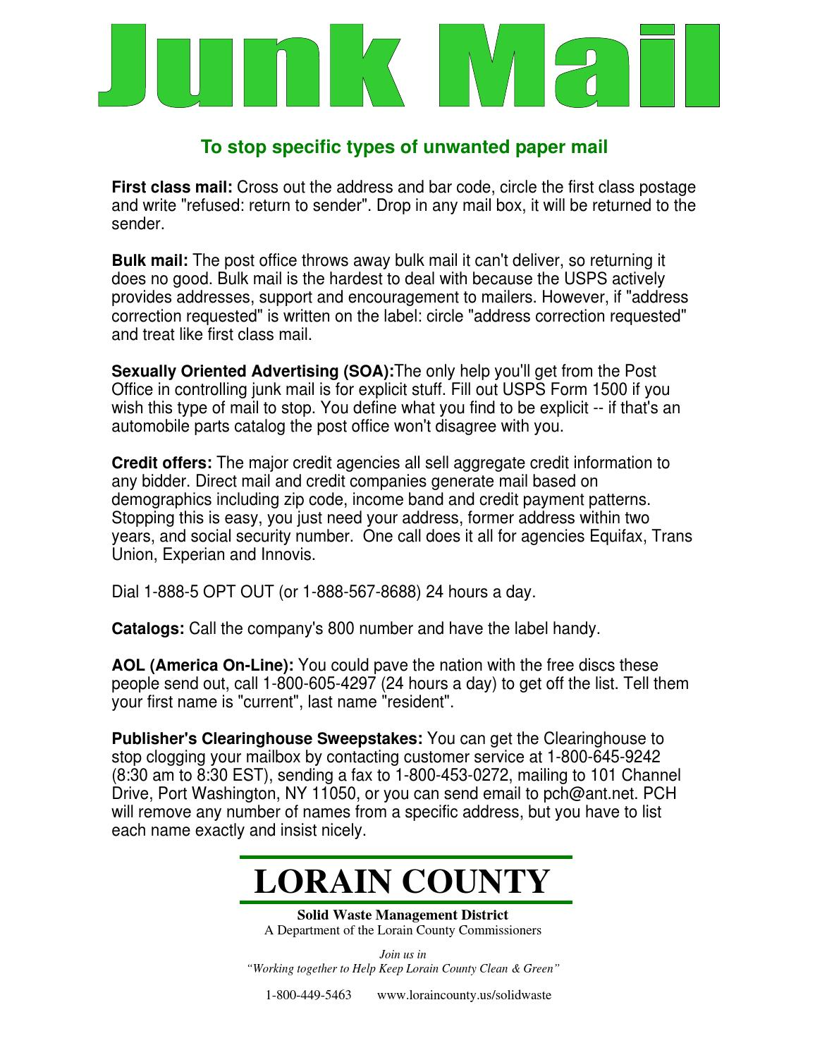 Junk Mail by Lorain County Ohio Government - issuu