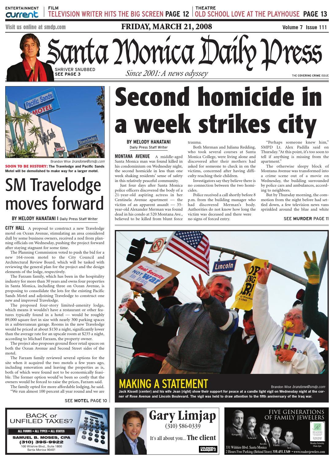 Santa Monica Daily Press, March 21, 2008 by Santa Monica Daily Press - issuu