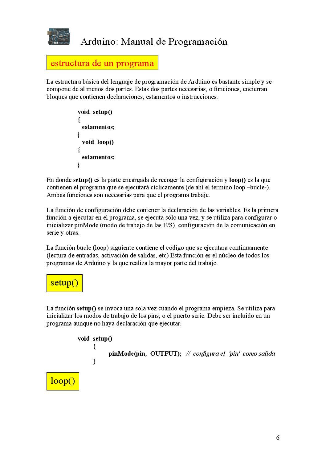Manual Programación Arduino By Gerardcubides Issuu