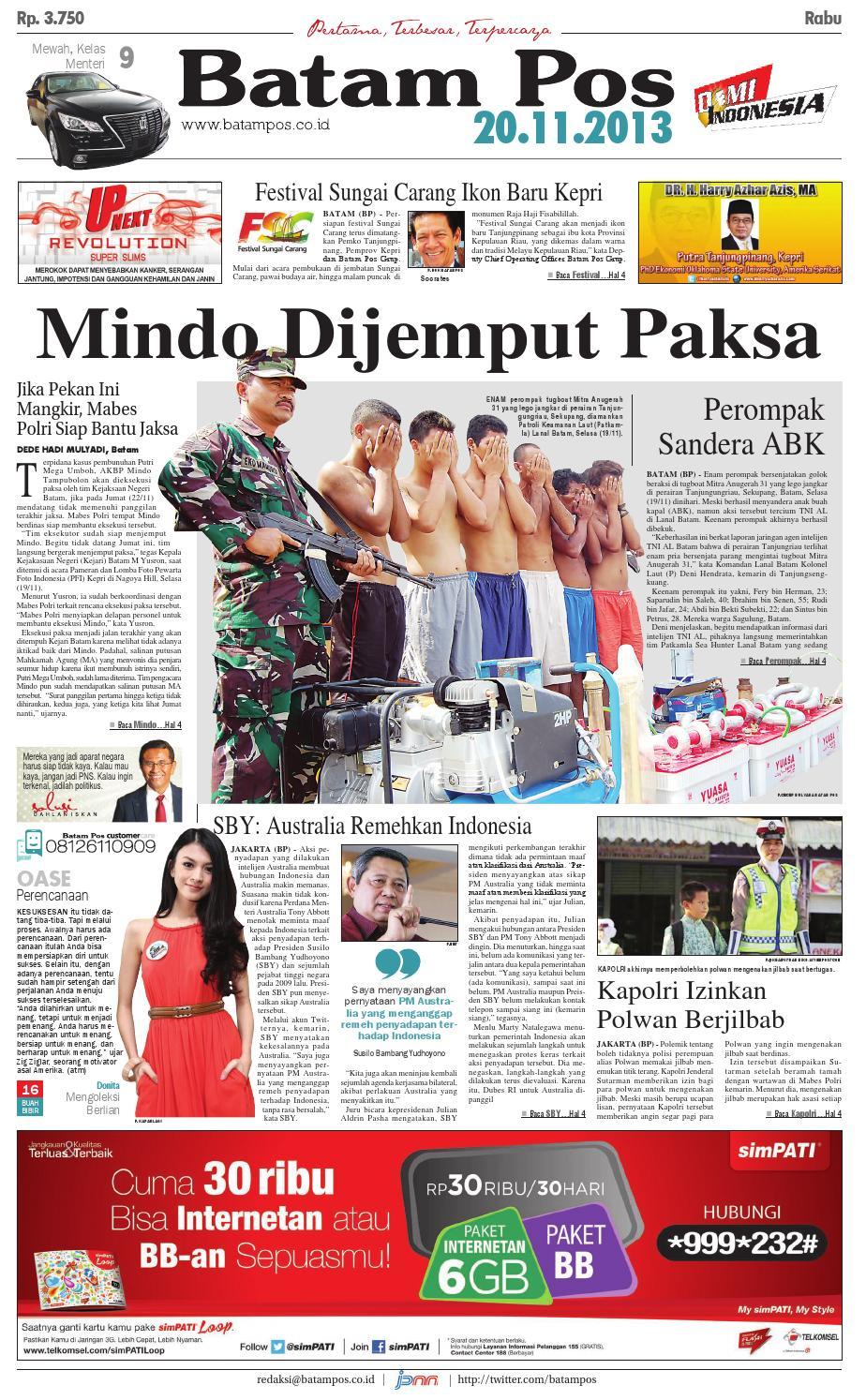20 November 2013 By Batampos Newspaper Issuu Produk Ukm Bumn Tekiro Tang Buaya 10