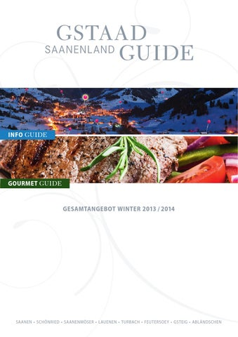 Gstaad Saanenland Guide Winter 2013 14 By Mdruck