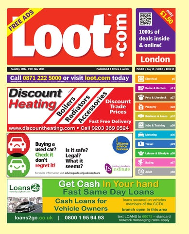Loot london 17th november 2013 by loot issuu page 1 fandeluxe Image collections