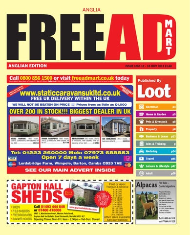 Free Ad Mart Easy Anglia 12th November 2013 By Loot