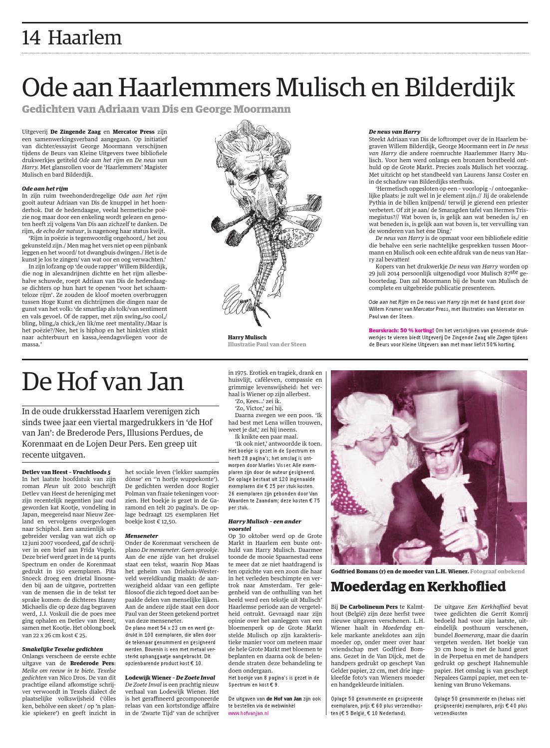 Krant Beurs Van Kleine Uitgevers 2013 By Paradiso Issuu