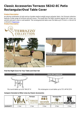 Classic Accessories Terrazzo 58242 Ec Patio Rectangular