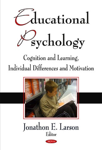 Educational Psychology Cognition And Learning Individual