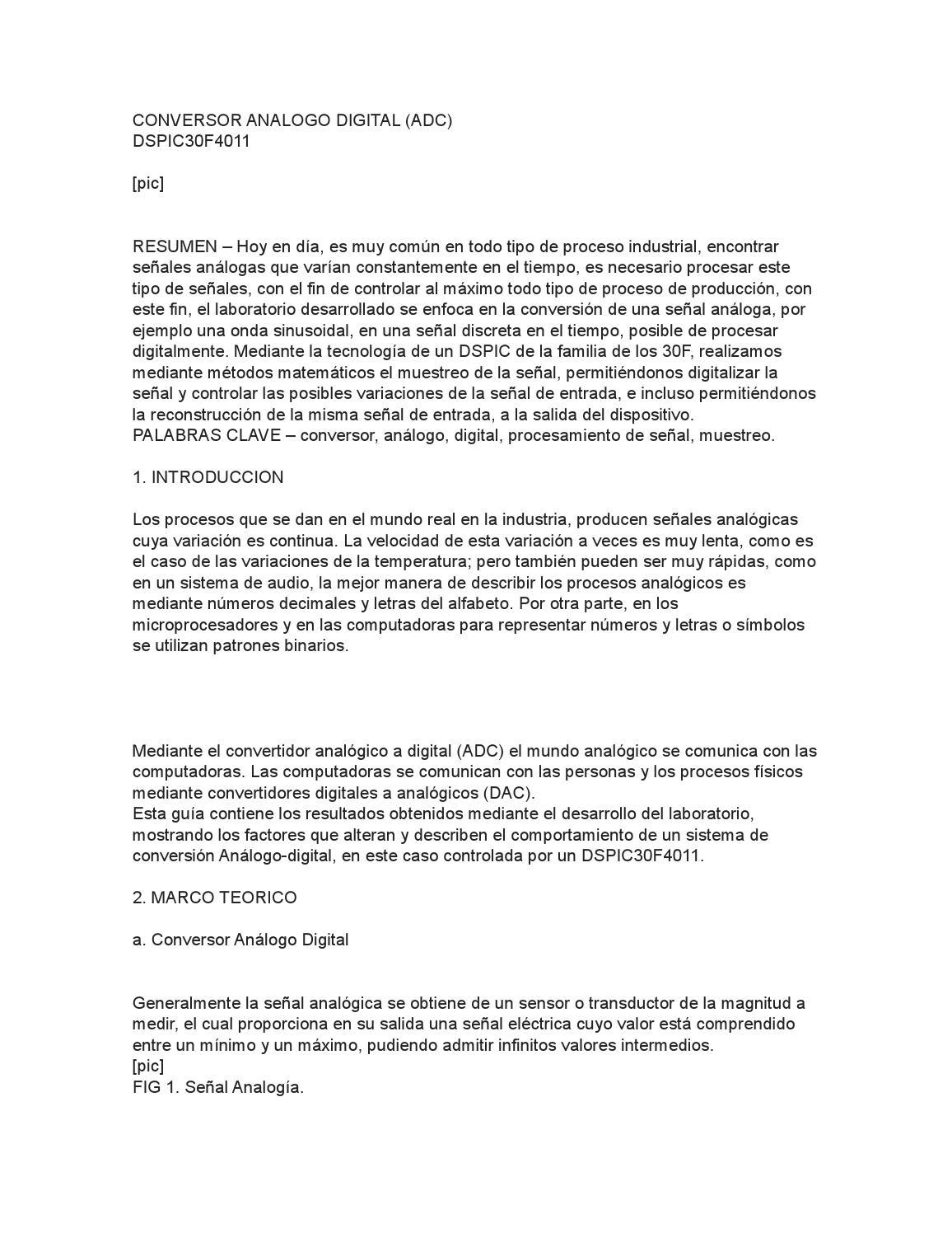 Conversor analogo digital by Eduuard Fraa Dedrick - issuu