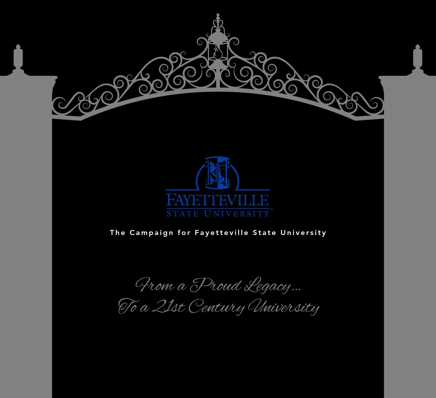 Fayetteville State University S Center For Defense And: FSU Case For Support By Fayetteville State University
