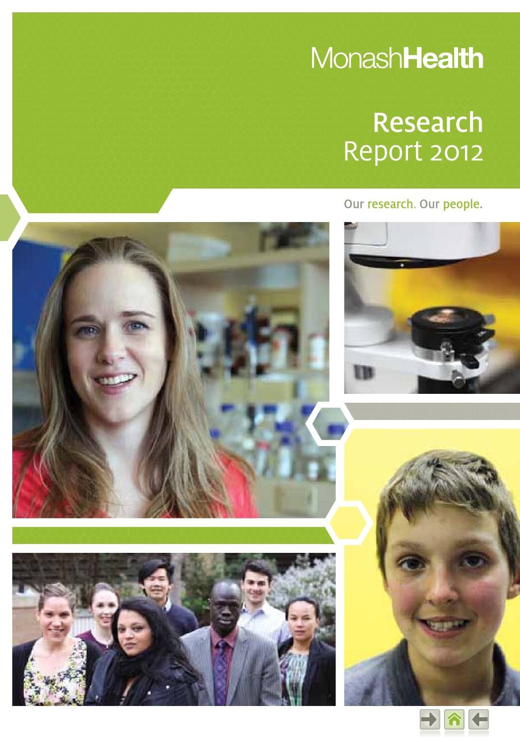 Monash Health Research Report 2012 by Monash Health Research ...