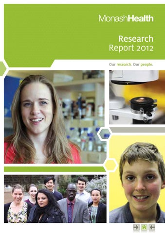 Monash Health Research Report 2012 by Monash Health Research - issuu