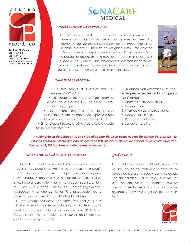 transfusión de sangre por cáncer de próstata