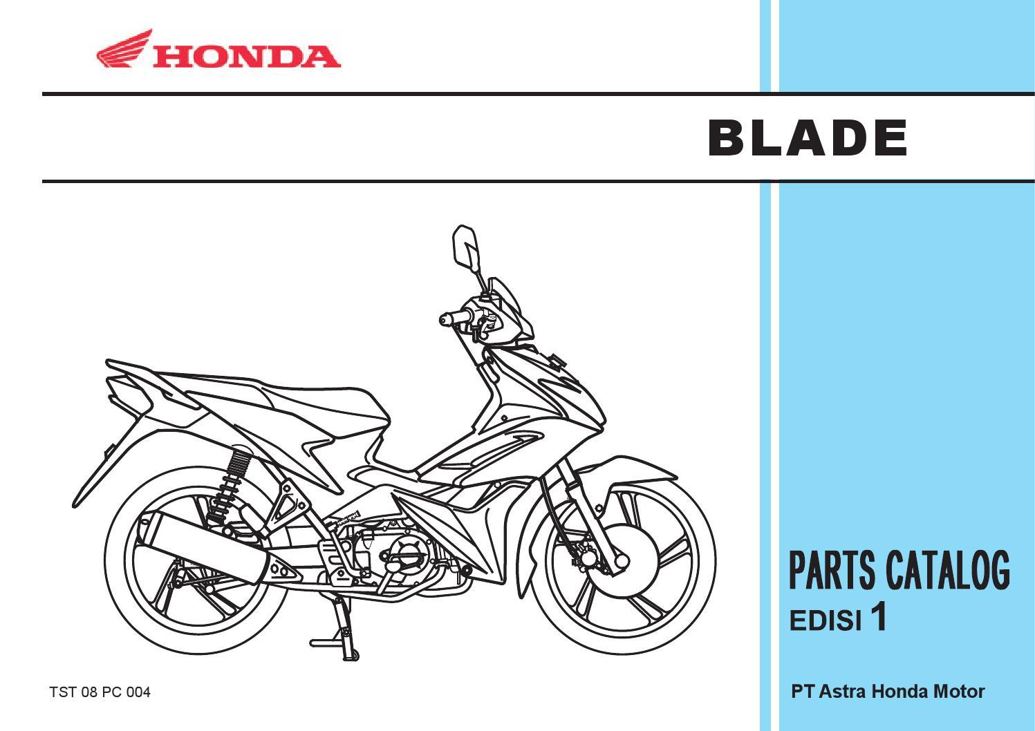 Part Catalog Honda Blade By Ahass Tunasjaya Issuu Oring Sil Seal 110