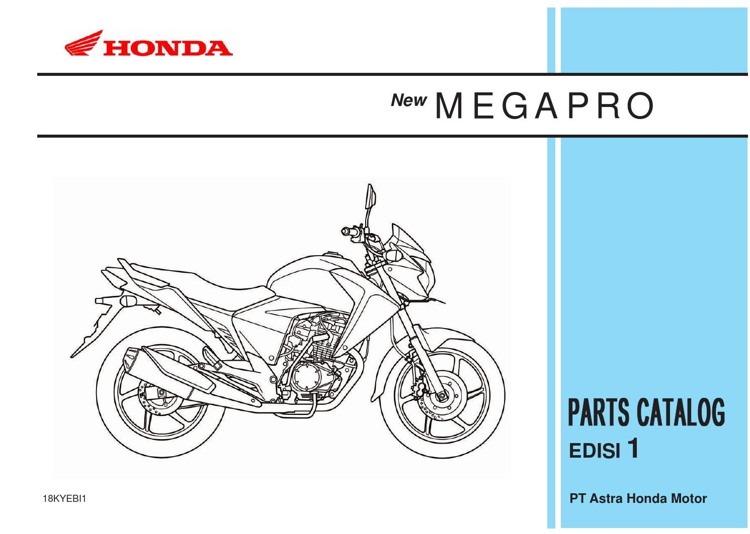 Part Catalog New Megapro By Ahass Tunasjaya