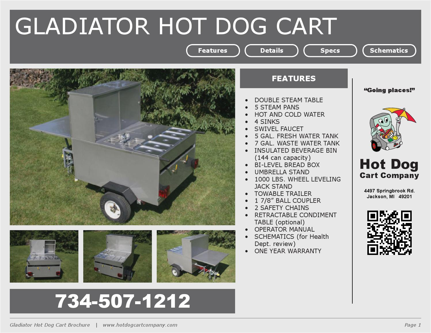 GRAND MASTER HOT DOG CART VENDING CONCESSION TRAILER BRAND ...