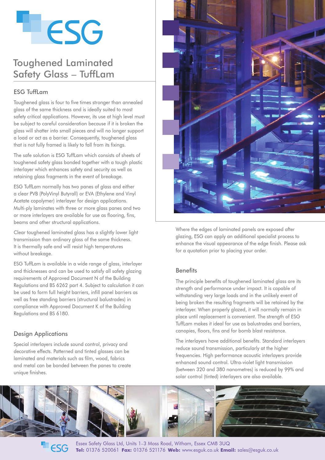 Esg Tufflam Brochure By Esg Glass Issuu