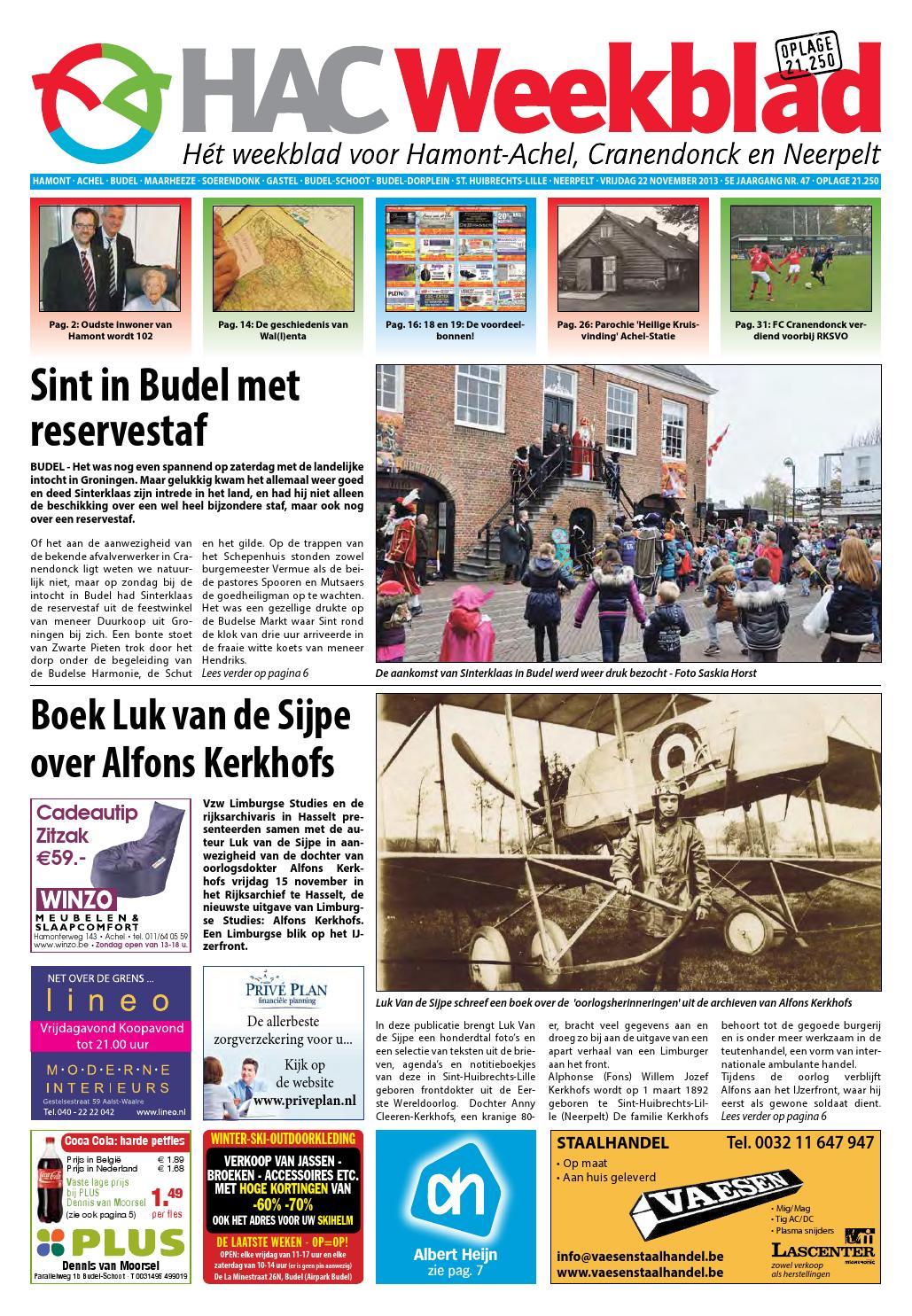 Zitzak Voor Gehandicapten.Hac Weekblad Week 47 2013 By Hac Weekblad Issuu