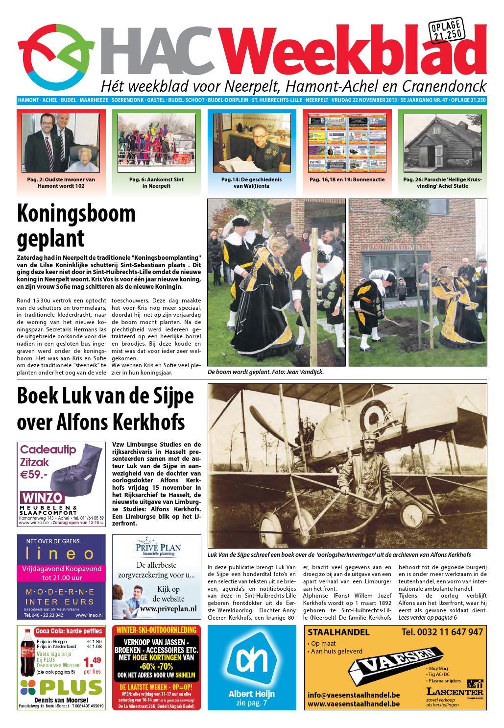Rode Kater Zitzak.Hac Neerpelt Week 47 2013 By Hac Weekblad Issuu