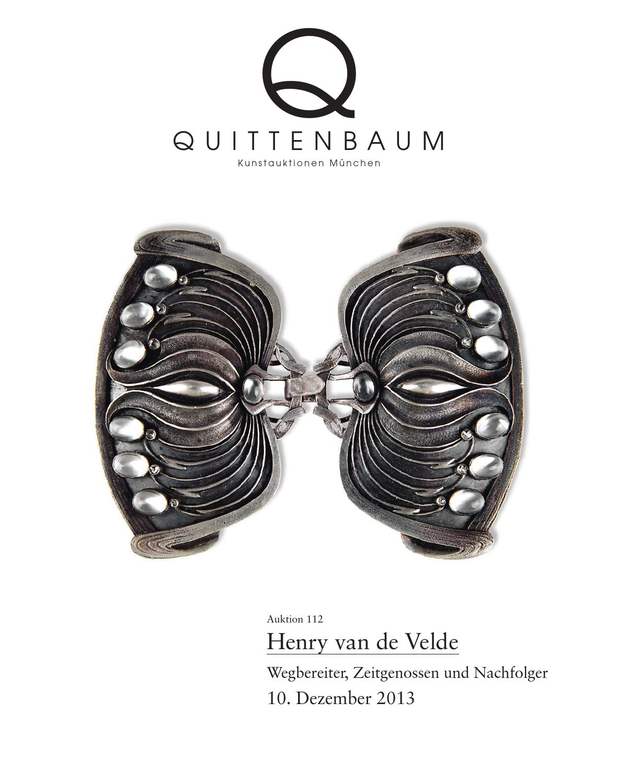 auction 112 henry van de velde quittenbaum art auctions munich by quittenbaum kunstauktionen. Black Bedroom Furniture Sets. Home Design Ideas