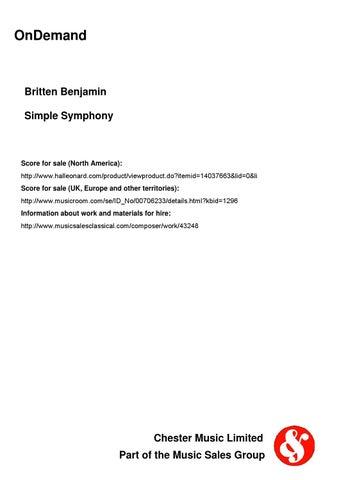 Britten SIMPLE SYMPHONY by ScoresOnDemand - issuu