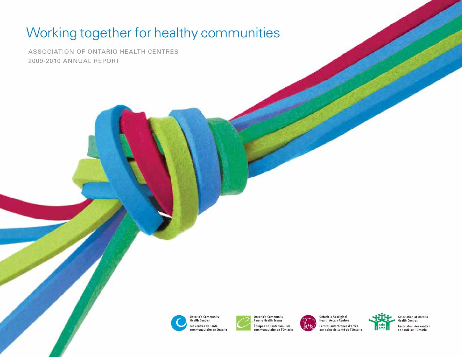 Aohc annual report 2009 10 by Alliance for Healthier