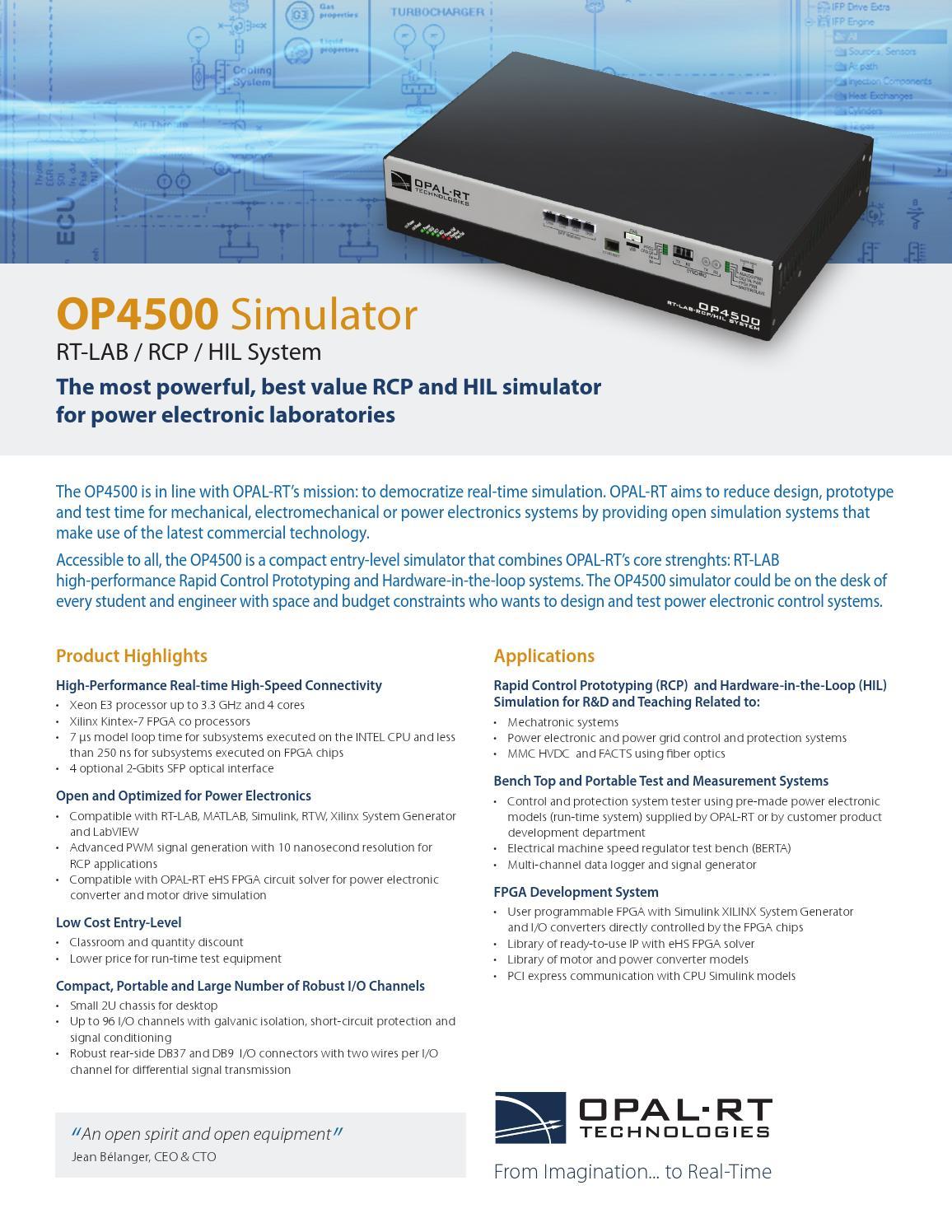 OP4500 Datasheet by OPAL-RT TECHNOLOGIES - issuu