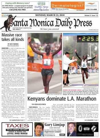 Santa Monica Daily Press, March 22, 2010 by Santa Monica