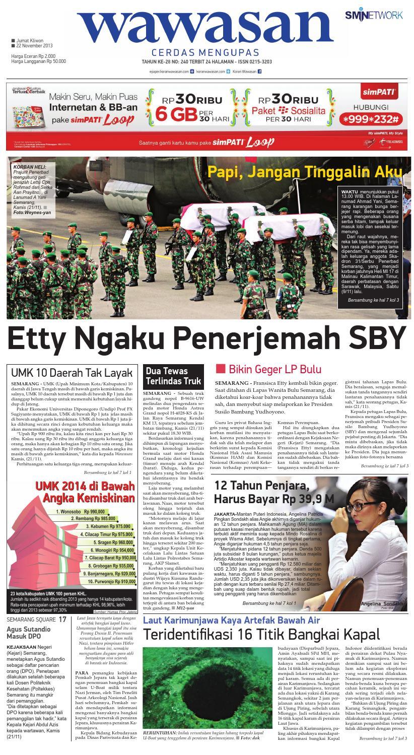 Wawasan 22 Nopember 2013 By Koran Pagi Issuu Tcash Vaganza 36 Produk Ukm Bumn Batik Print Motif3