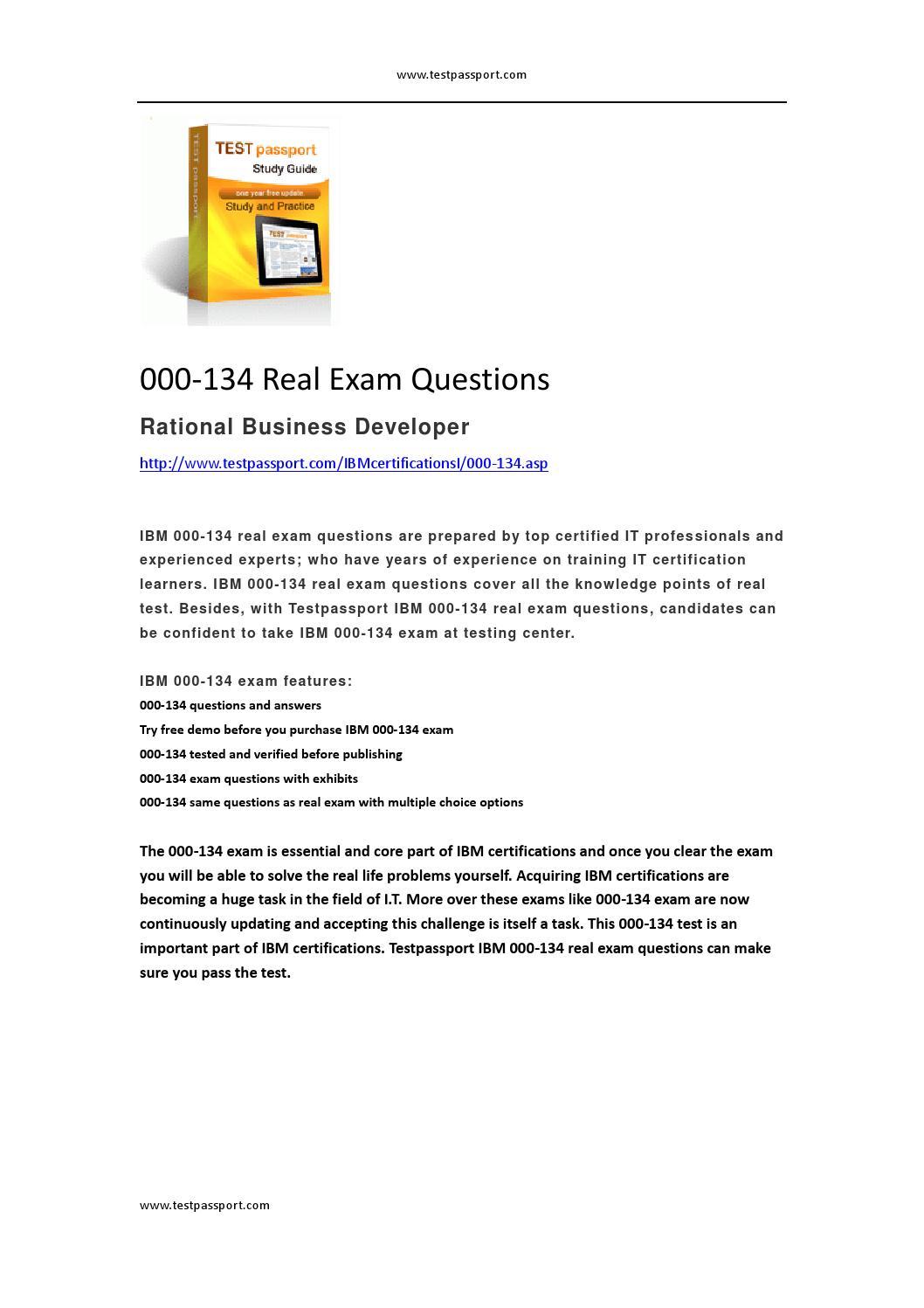 Ibm 000 134 Real Exam Questions By Mallett Issuu