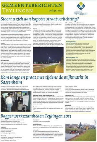 Tl week 46 13 by Uitgeverij Verhagen - issuu