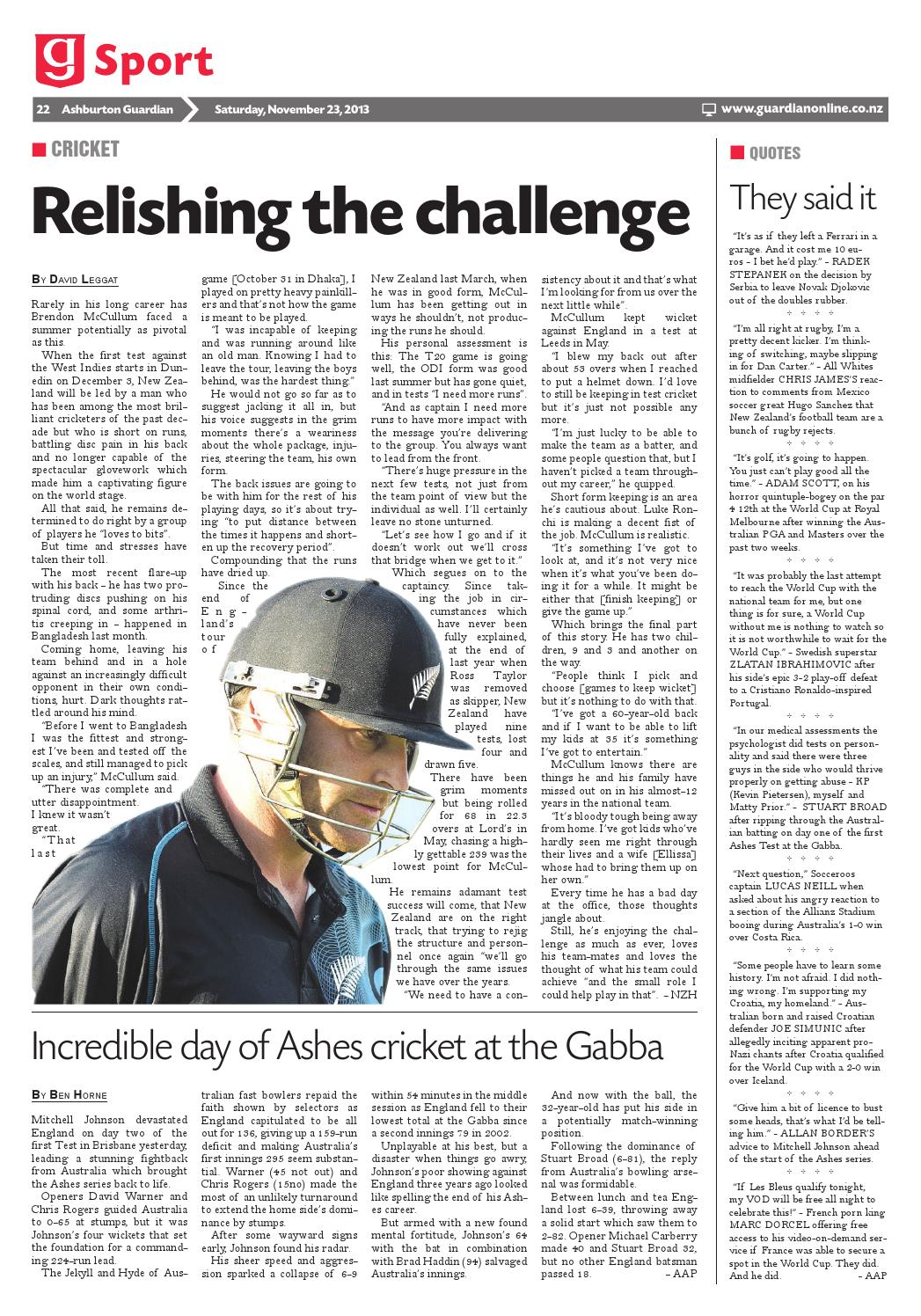 Ashburton Guardian, Saturday, November 23, 2013 by Ashburton