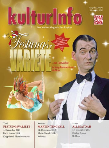KulturInfo Dezember 2013 by Kulturverlag Günther Schmitz - issuu