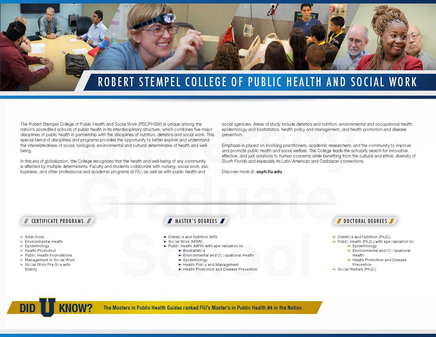 Fiu Graduate Programs Brochure By Darren Gold Issuu