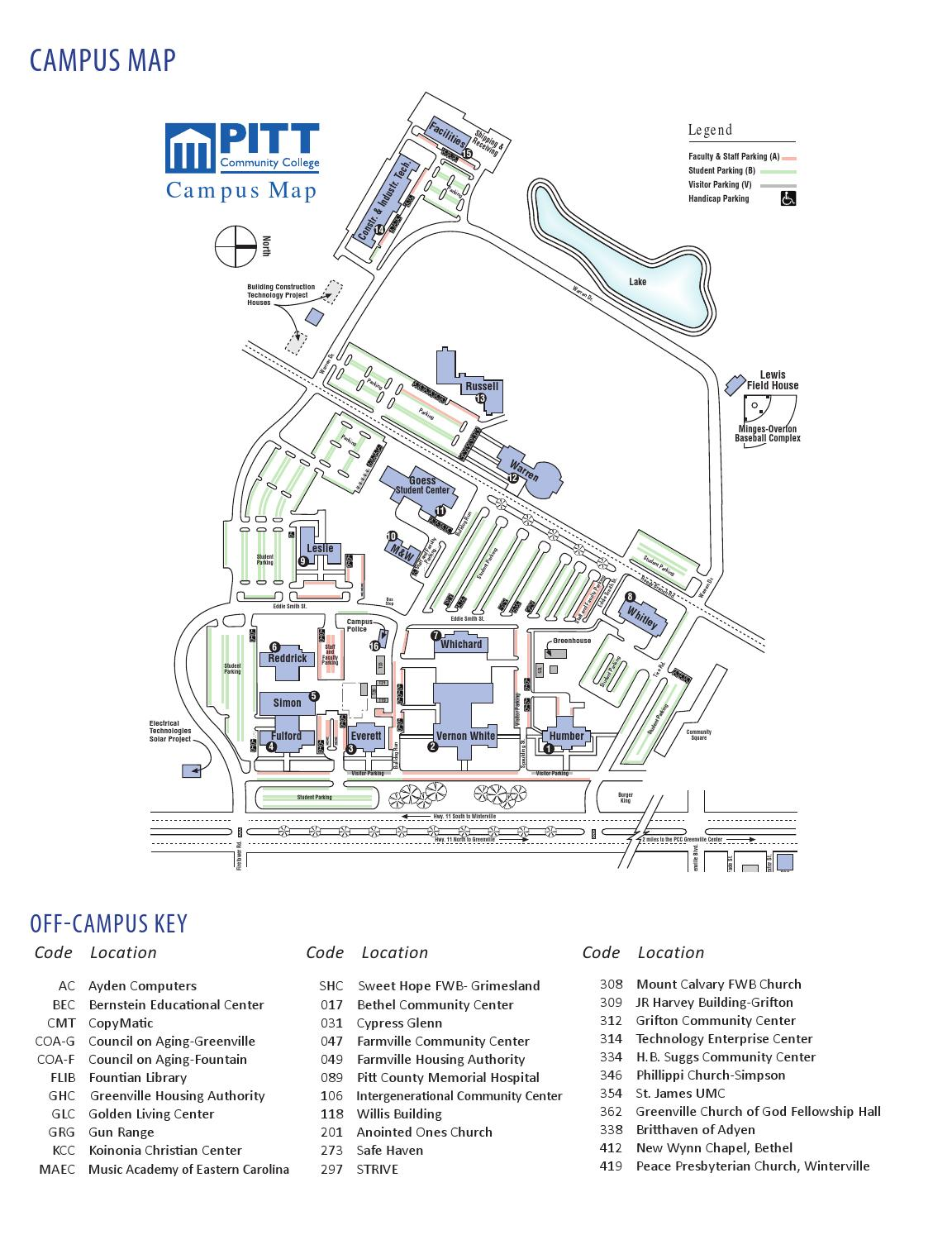 Coa Campus Map.Pcc Continuing Education Courses Spring 2014 By Pitt Community