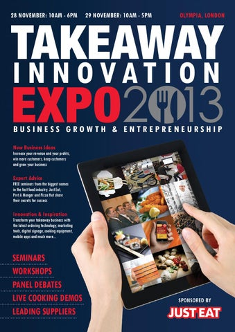 Takeaway Innovation Expo Show Guide November 2013 By Prysm