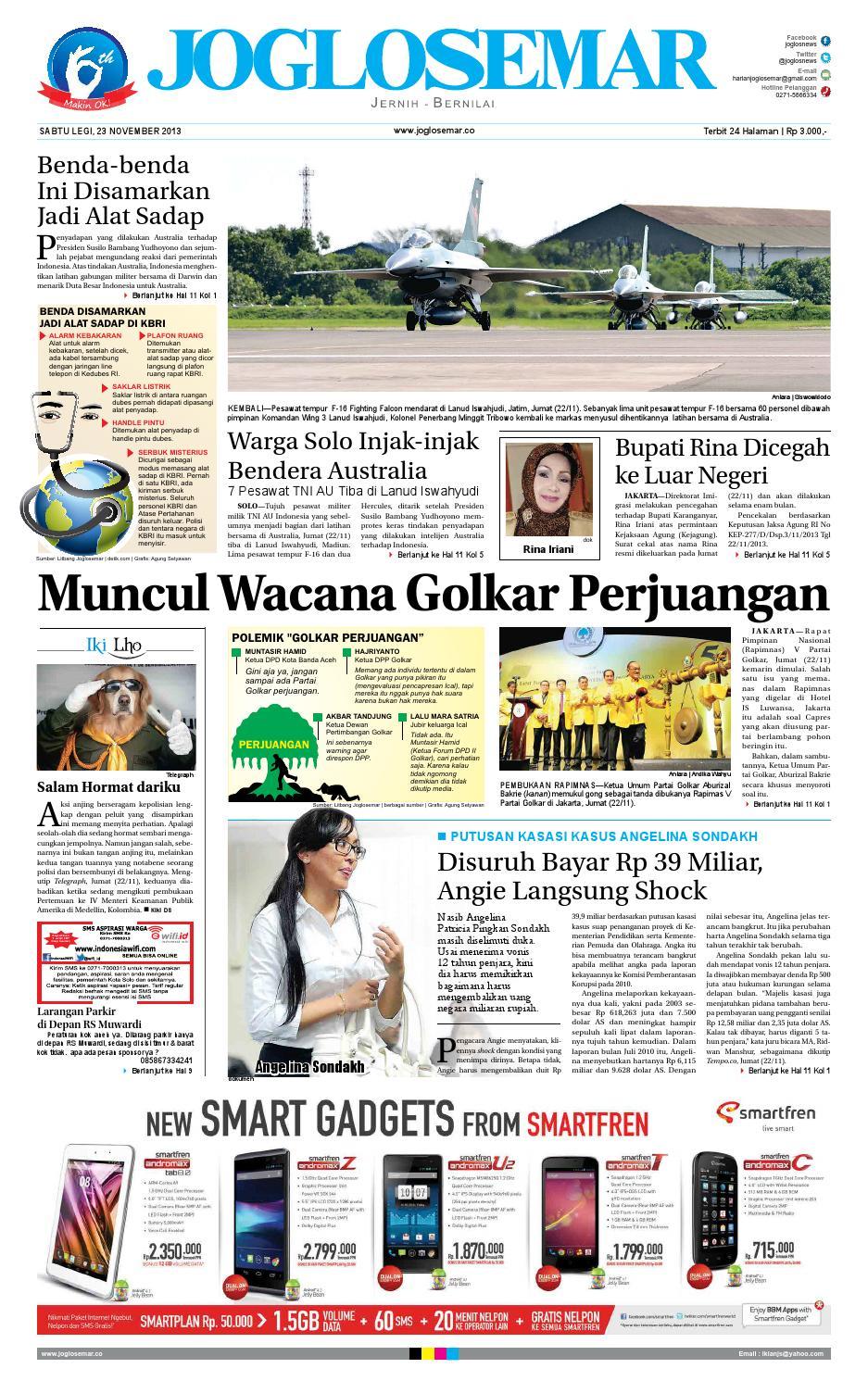 Epaper Edisi 23 Nopember 2013 By Pt Joglosemar Prima Media Issuu Kue Bakpia Kuliner Yulis Saekowati Akumandiri