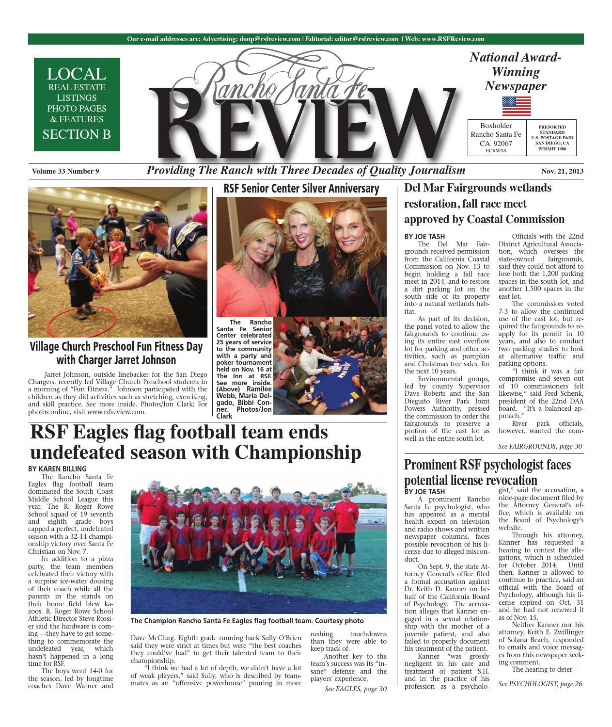 Rancho Santa Fe Review 11 21 13 By Ramona Sentinel Issuu