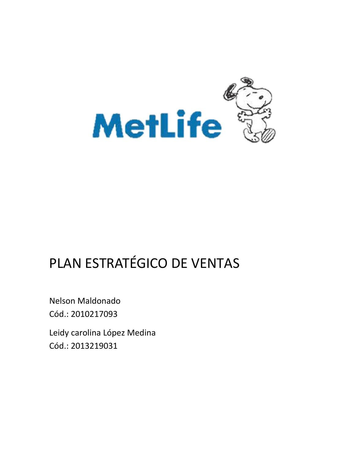 Plan estrategico de ventas MetLife by Steven Martinez - issuu