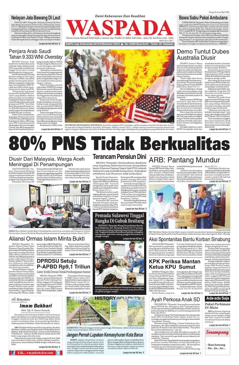 Waspadasabtu 23 November 2013 By Harian Waspada Issuu Rkb Tegal Produk Ukm Bumn Emping Ubi