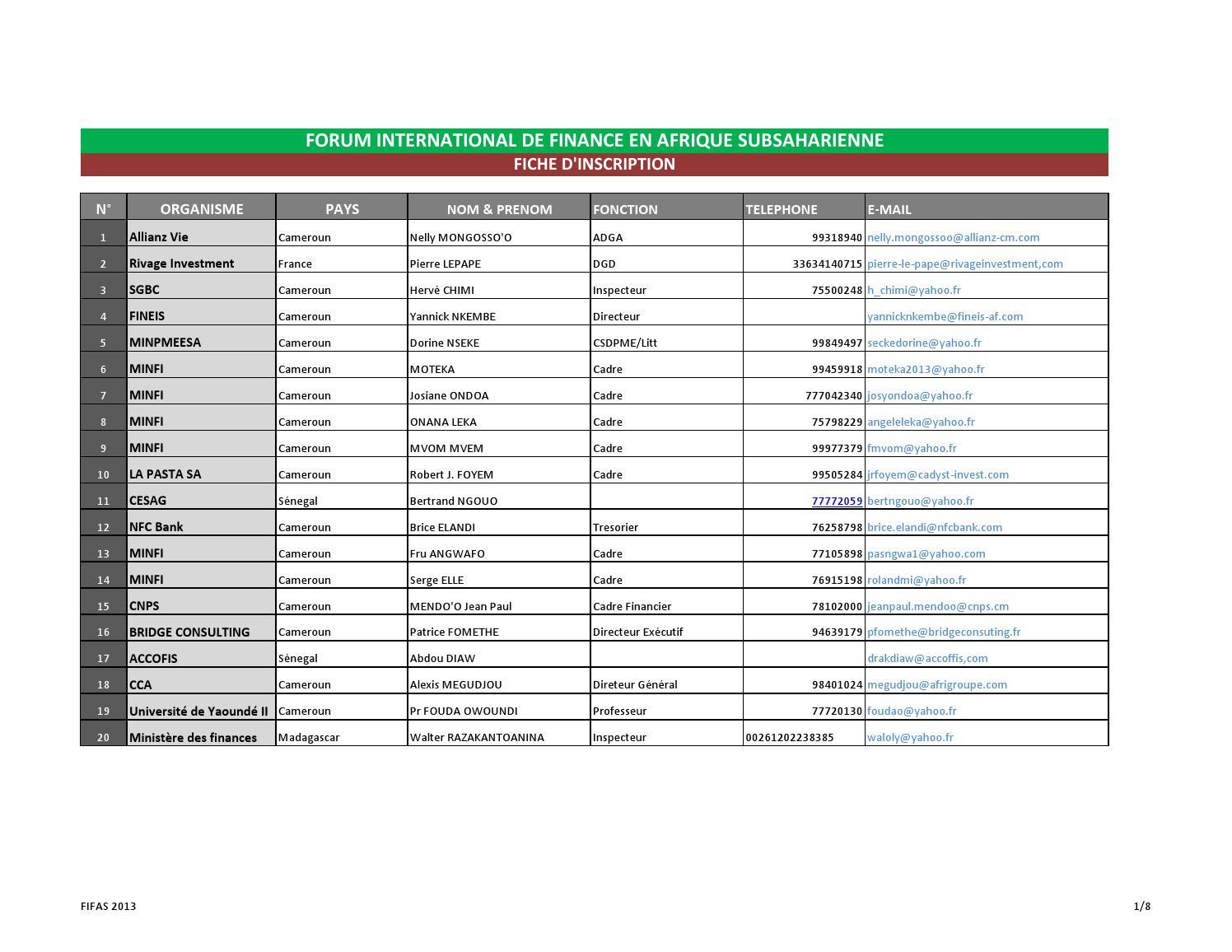 liste des souscripteurs fifas 2013 by ivan m233lach233o issuu