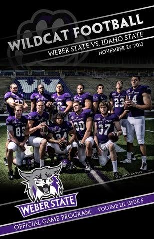 2013 weber state football game program nov 23 by weber state