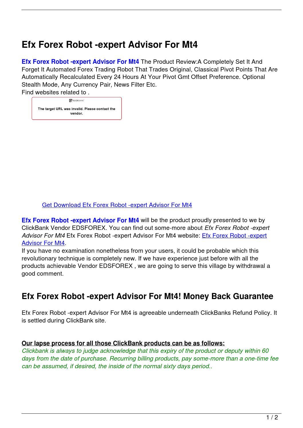 Efx forex news