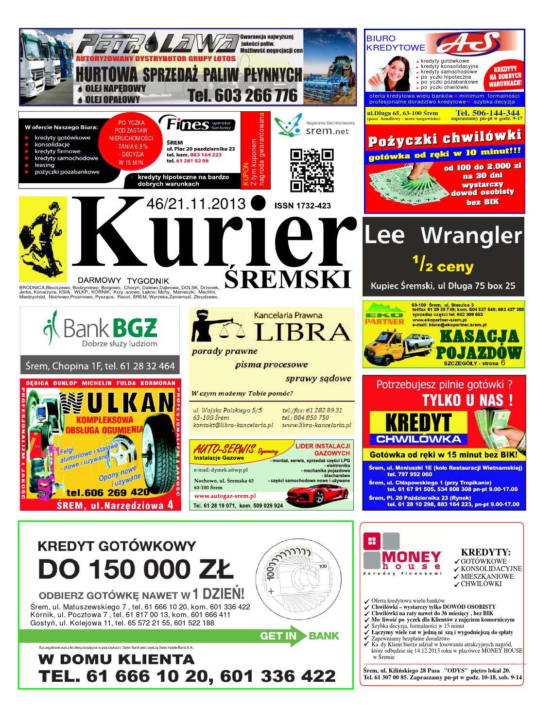 0d6485dc Kurier Śremski nr46 21.11.2013 by Wydawnictwo Piorita - issuu
