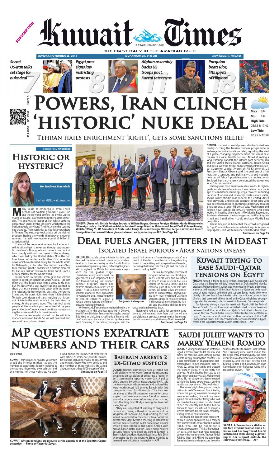 25th Nov By Kuwait Times Issuu