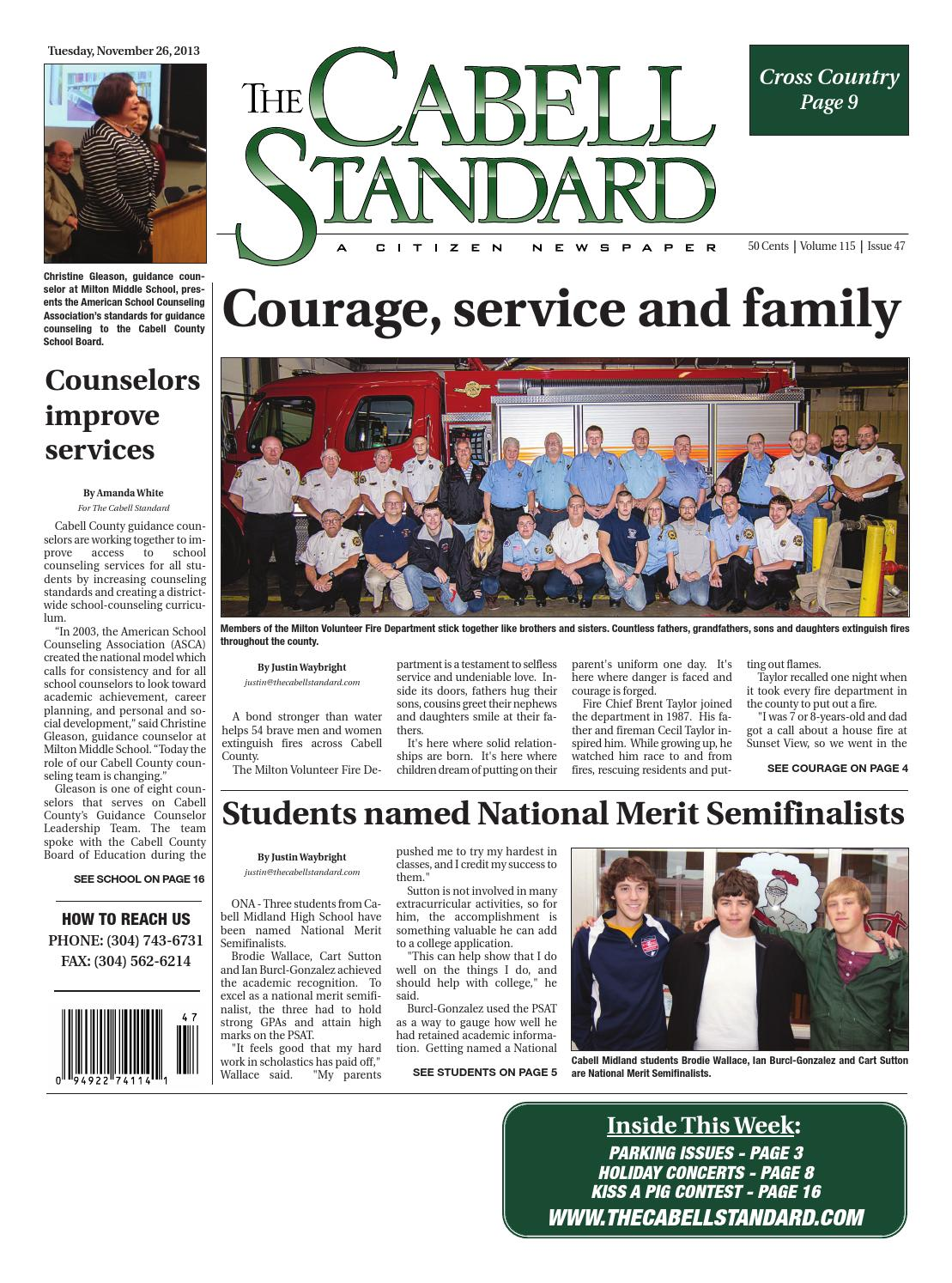 The Cabell Standard, November 26, 2013 by PC Newspapers - issuu