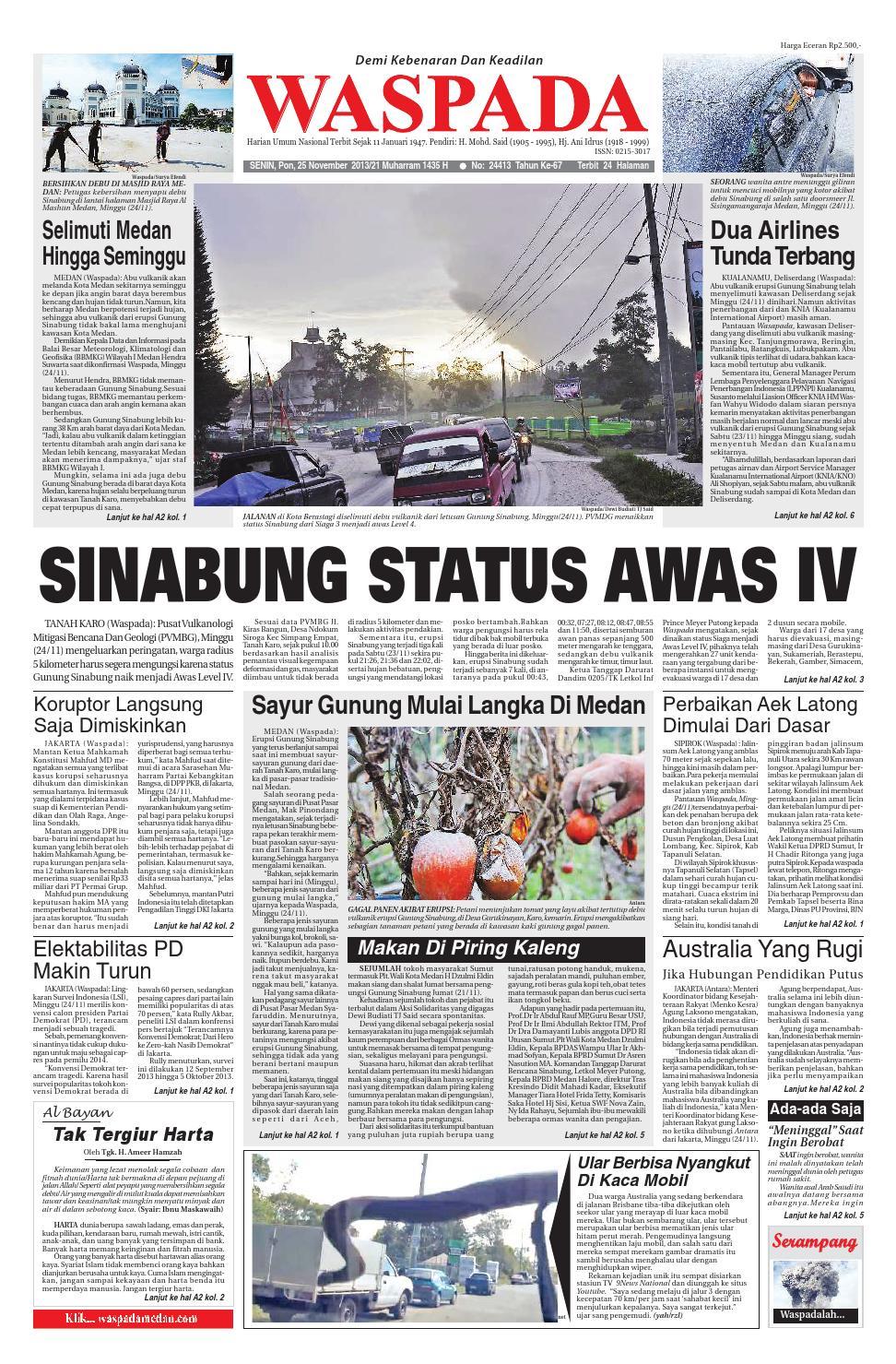 Waspadasenin 25 November 2013 By Harian Waspada Issuu Produk Ukm Bumn Box Hantaran Pengantin Bio Art