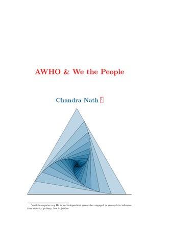 AWHO & WE the People by Chandra Nath - issuu